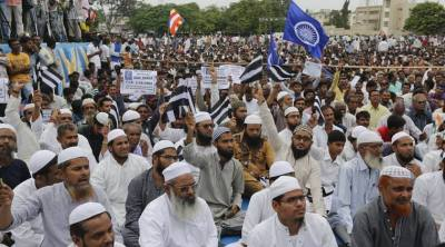 muslims in una protest