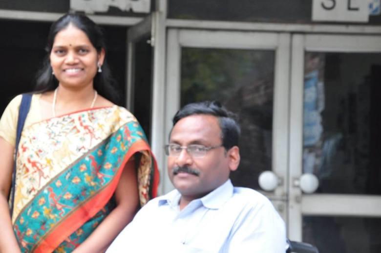 saibaba with A.S. Vasantha kumari